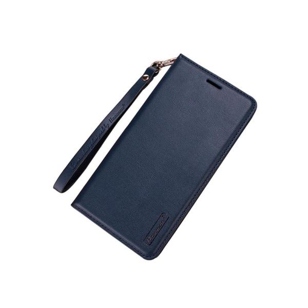 iPhone 7 Plus - Plånboksfodral i PU-Läder av Hanman Marinblå