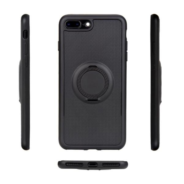 Flovemes Skal med Ringhållare till iPhone 7 Plus Rosaröd