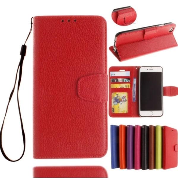 iPhone 8 - Exklusivt Praktiskt Fodral med Plånbok/Kortplatser Rosa