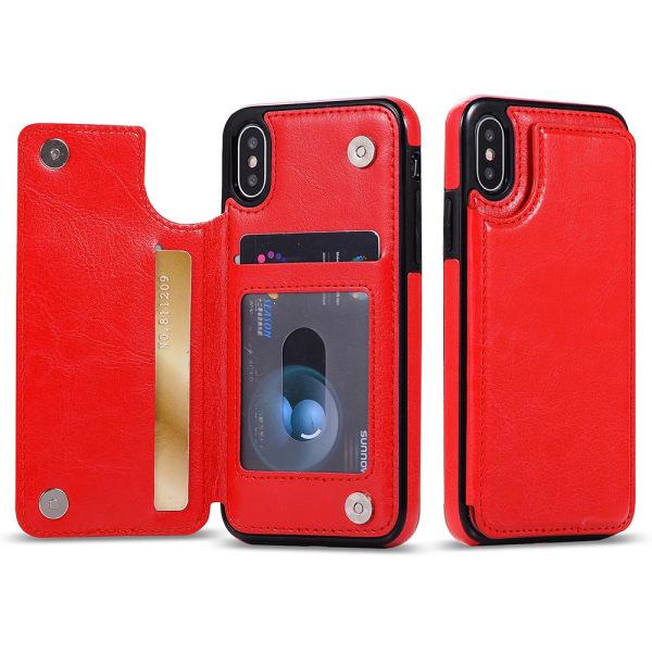iPhone XR - M-Safe Skal med Plånbok Röd