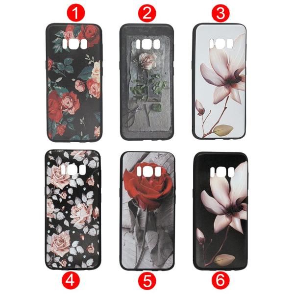 LEMAN Skal med Blom-motiv för Samsung Galaxy S8 Plus 5