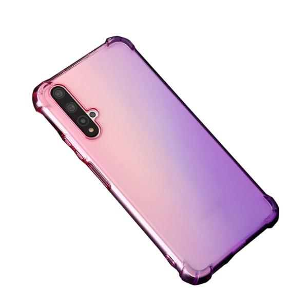 Huawei Nova 5T - Skyddsskal i Silikon Rosa/Lila