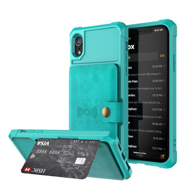 Professionellt Skal med Kortfack - iPhone XR Grön