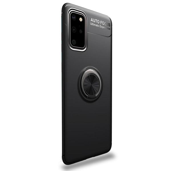 Samsung Galaxy S20 Plus - Robust Skal med Ringhållare Svart