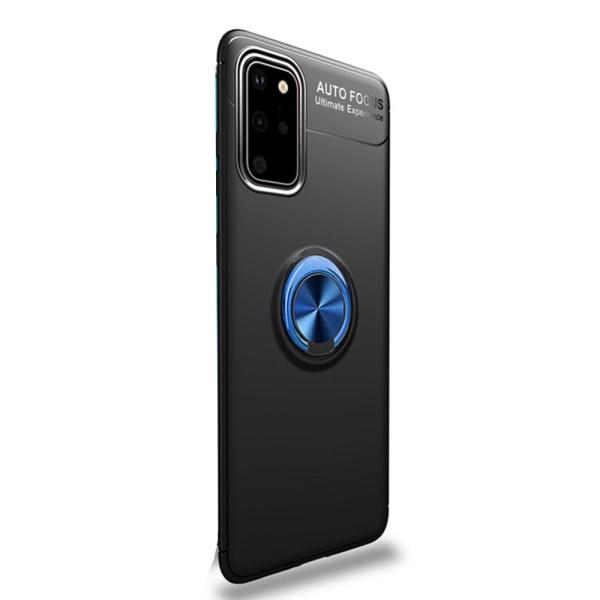 Smidigt Skal med Ringhållare - Samsung Galaxy S20 Plus Svart/Blå