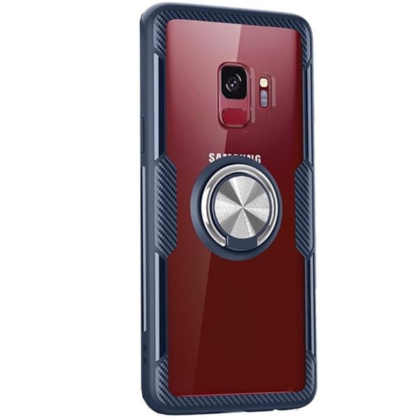 Skal med Ringhållare - Samsung Galaxy S9 Röd/Silver