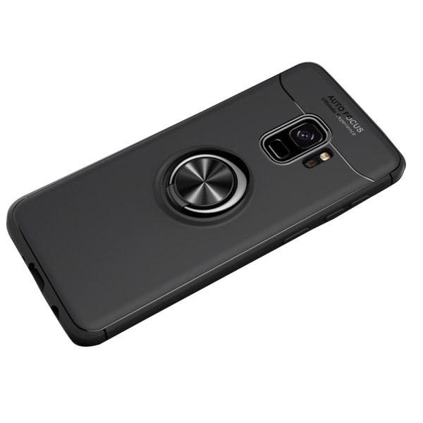 Samsung Galaxy A6 2018 - Skal med Ringhållare Svart/Blå