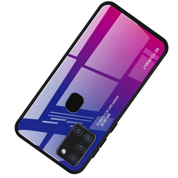 Skyddsskal - Samsung Galaxy A21S Blå/Rosa