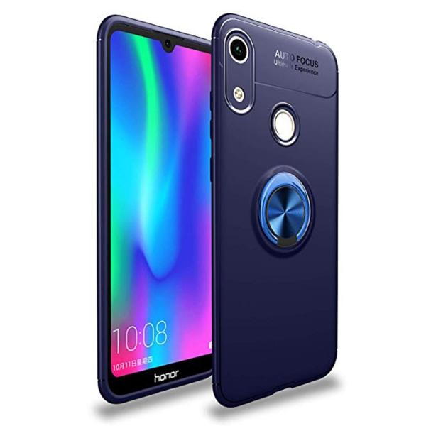 Smidigt Skyddsskal med Ringhållare - Huawei Y6 2019 Svart/Blå