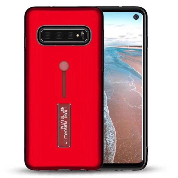 Stilrent Praktiskt Skal (KISSCASE) för Samsung Galaxy S10 Plus Röd