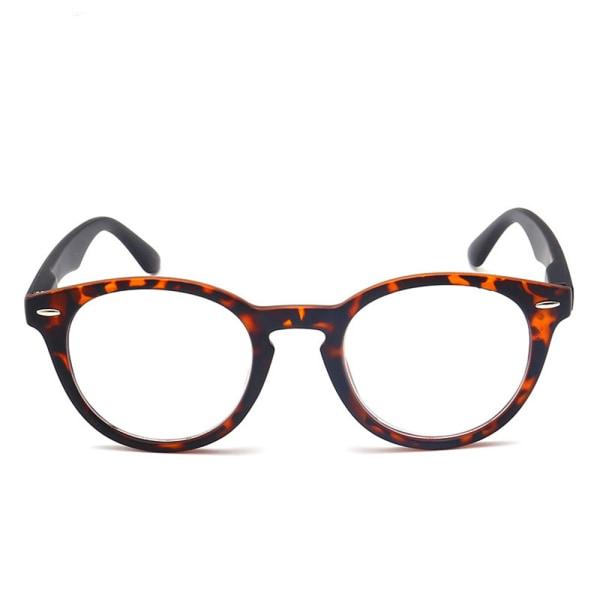 Unisex läsglasögon med komfortabelt båge Brun 1.5