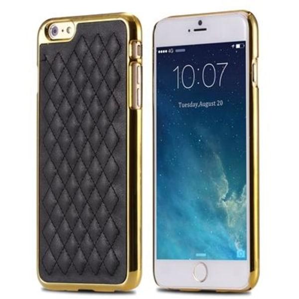 "Elegant Rutmönstrat Skal Svart/Guld iPhone 6/6S Plus (5.5"") Svart"
