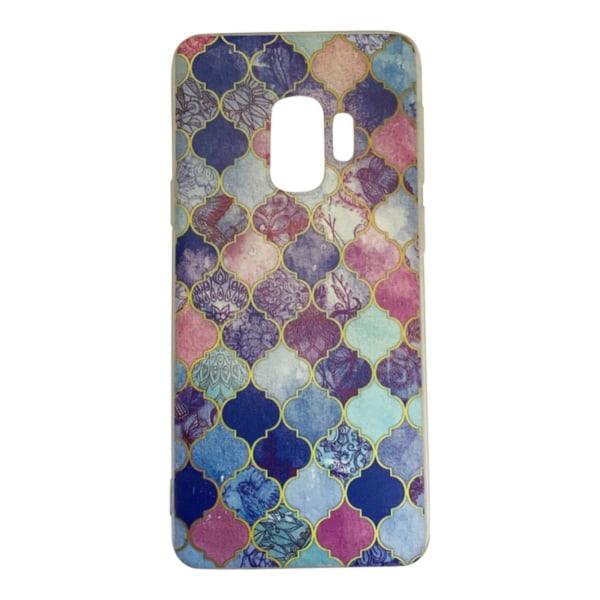 Samsung Galaxy S9 PLUS - marmori/medaljonki - violetti/kulta Purple