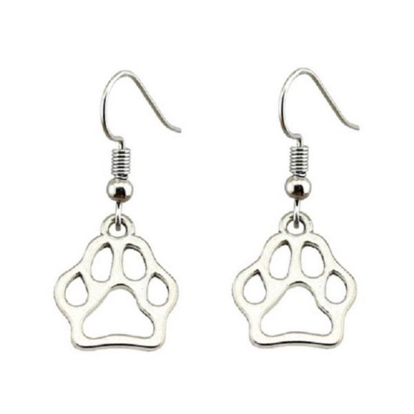 Korvakorut Paw Animal Lover Dog Cat Silver