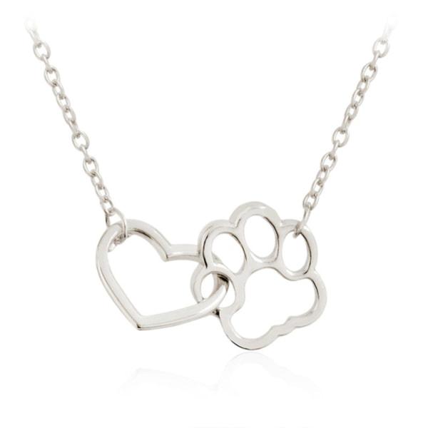 Halsband Tass Hjärta Djurälskare Hund/Katt  Silver