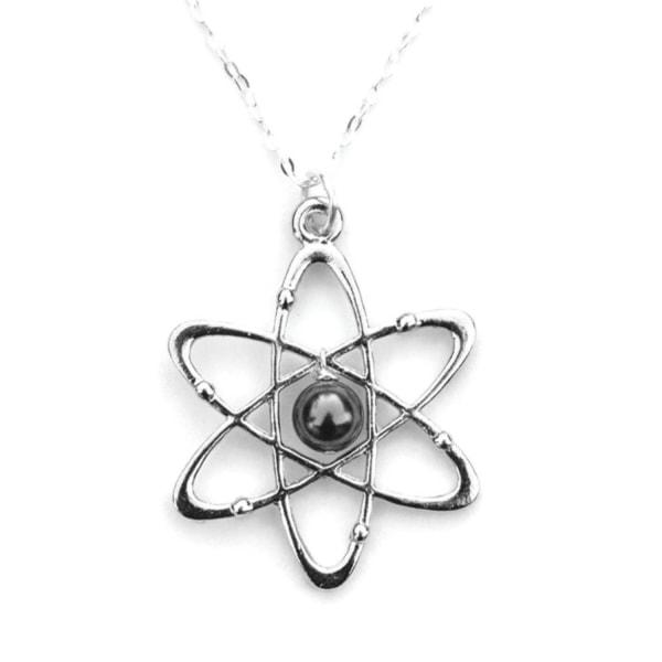 Halskæde - Atom - Hæmatit - Perle 60/Atom