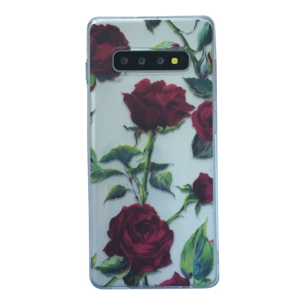 Samsung Galaxy S10 Ros Blad Leaf Rose Blommor Röd