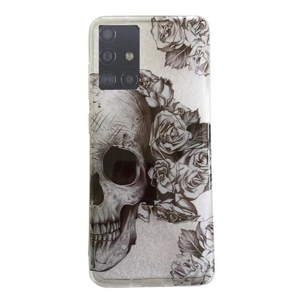 Samsung Galaxy S20 ULTRA Dödskalle Skull Döskalle Retro Rosor Svart