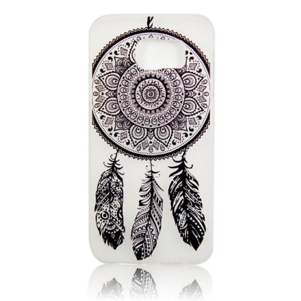 Samsung Galaxy S6 EDGE - Drömfångare (Svart) - Mandala Henna Svart