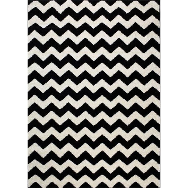 D-sign Matta Rainbow Collection Kiel Svart/Vit Black 200x300