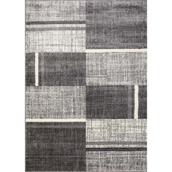 D-sign Matta Rainbow Collection Mau Ljusgrå/Mörkgrå Black 120x170