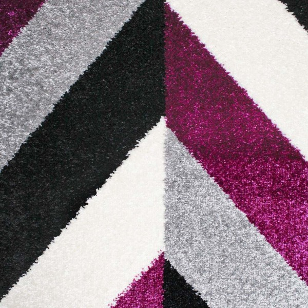 D-sign Matta Rainbow Collection Nova Ljusgrå/Mörklila Black 80x120