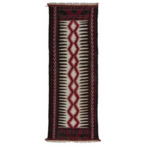 Handknuten Exklusiv Persisk Matta Quchan Kelim 80x235cm Röd