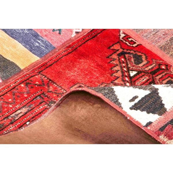 Handknuten Persisk Patchworkmatta 165x232cm Röd