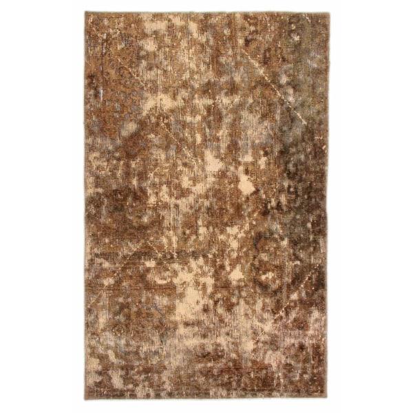 Handknuten Persisk Vintagematta Tabriz 85x136cm Brun
