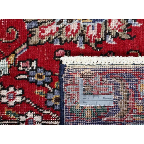 Handknuten Persisk Vintagematta Tabriz Ull 134x172cm Röd