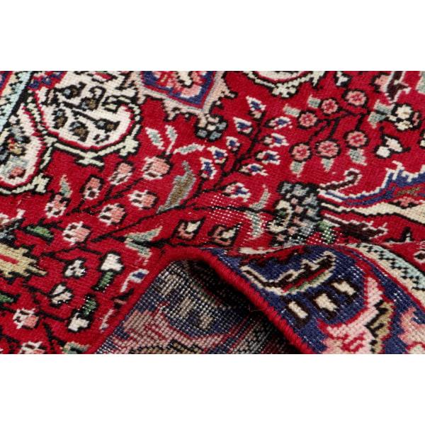 Handknuten Persisk Vintagematta Tabriz Ull 95x135cm Röd