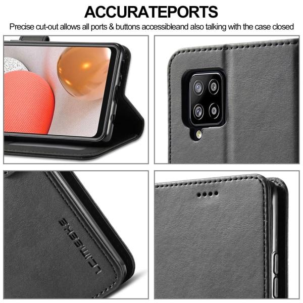 LC IMEEKE Plånboksfodral för Samsung Galaxy A42 - Svart