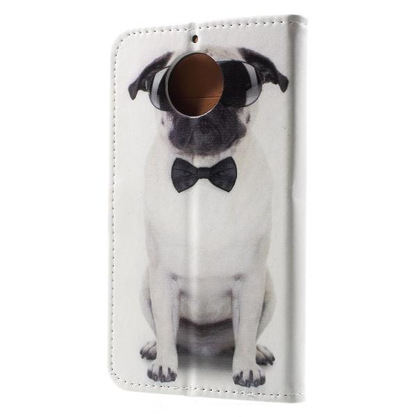 Plånboksfodral till Motorola Moto G5S - Cool hund med fluga
