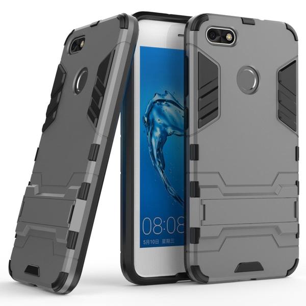 Skal med utfällbart stativ för Huawei P9 Lite Mini - Grå