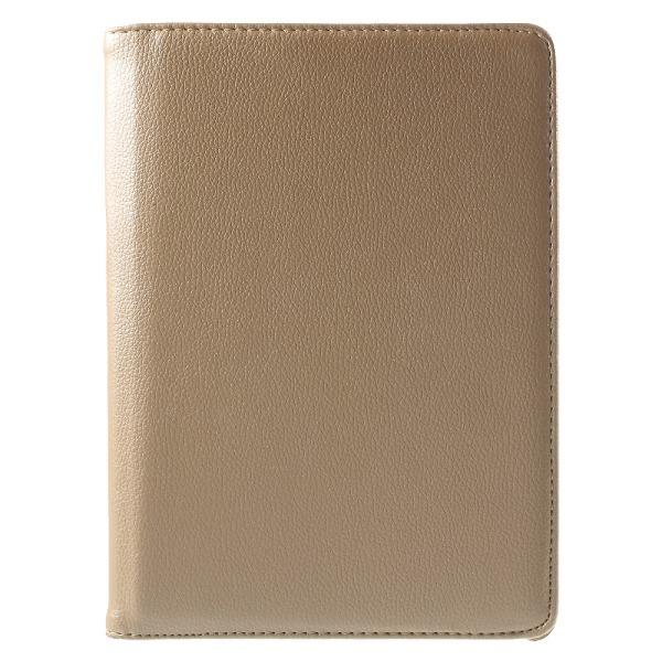 "Litchi Leather Fodral med Stativ för iPad Pro 9.7"" - Guld"
