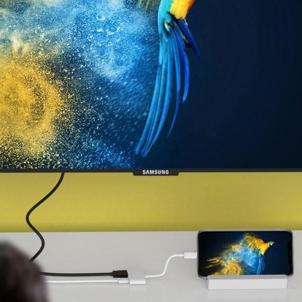 SiGN Lightning till HDMI-adapter - Vit