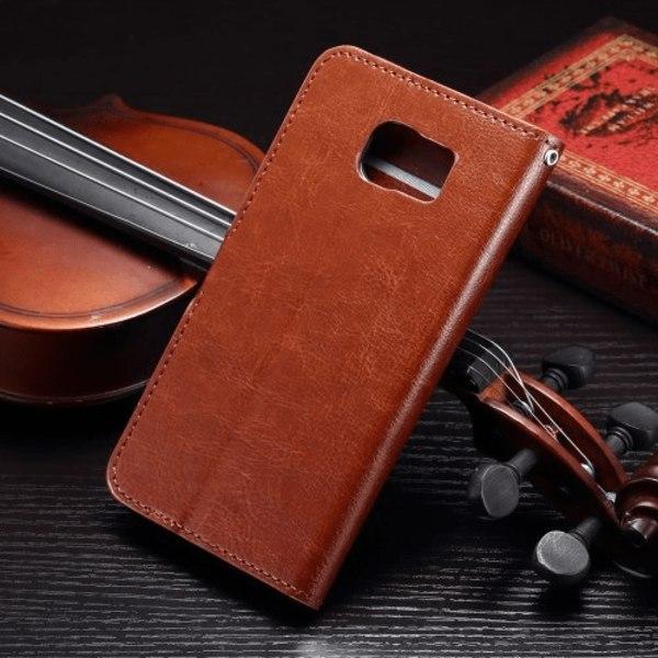 Crazy Horse Plånboksfodral till Samsung Galaxy S6, Brun