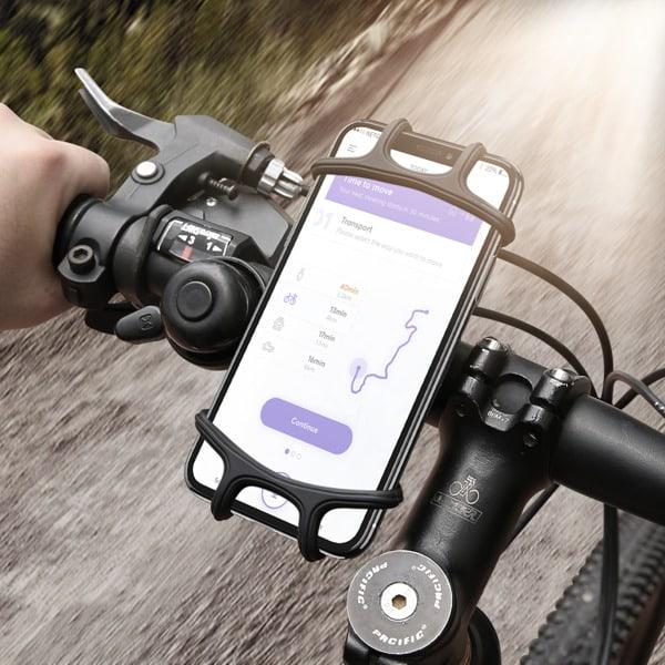 Floveme Universal Mobilhållare till Cykel - Svart