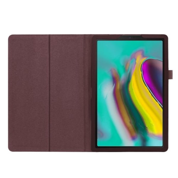 "Litchi Fodral för Samsung Galaxy Tab S5e 10.5"" - Brun"