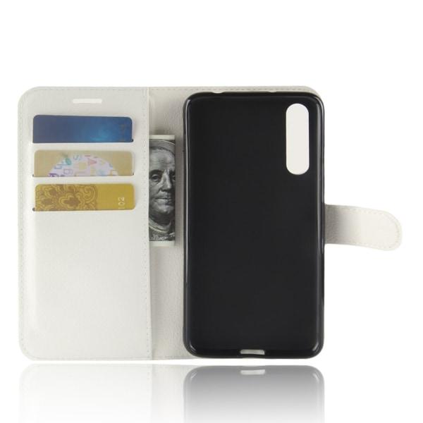Litchi Plånboksfodral för Huawei P20 Pro - Vit