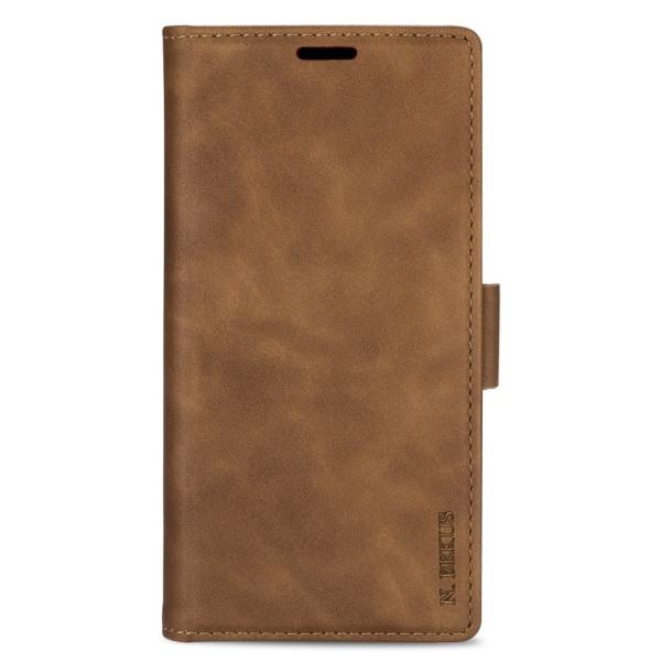 N.BEKUS Plånboksfodral för iPhone 12 Pro Max - Brun