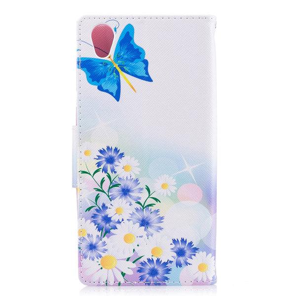 Plånboksfodral till Sony Xperia L1 - Blommor & fjäril