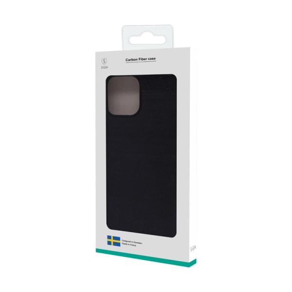 SiGN Carbon Fiber Skal för Samsung Galaxy A52 5G - Svart