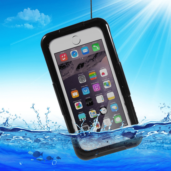 Vattentätt fodral till iPhone 6/6S, Svart