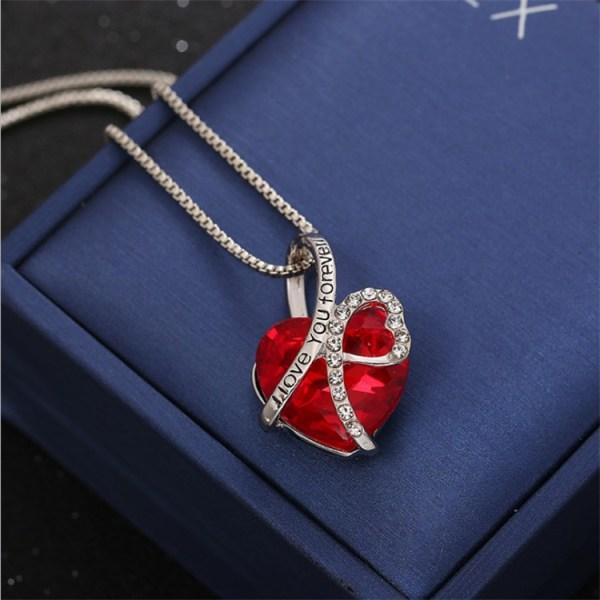 Halsband, I love you forever, Mors dag present. röd