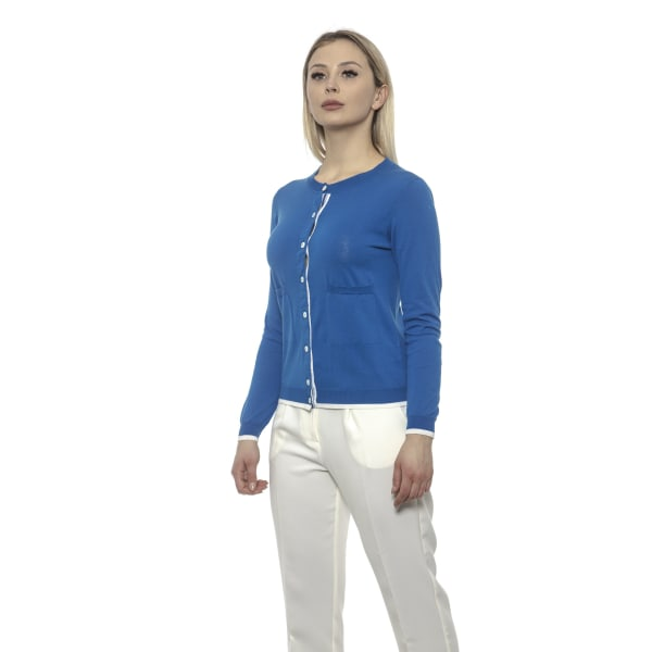 Cardigan Blue Alpha Studio Woman UK 6 - XS