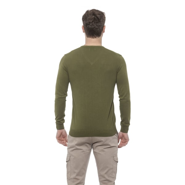 Pullover Green Conte of Florence Man XL