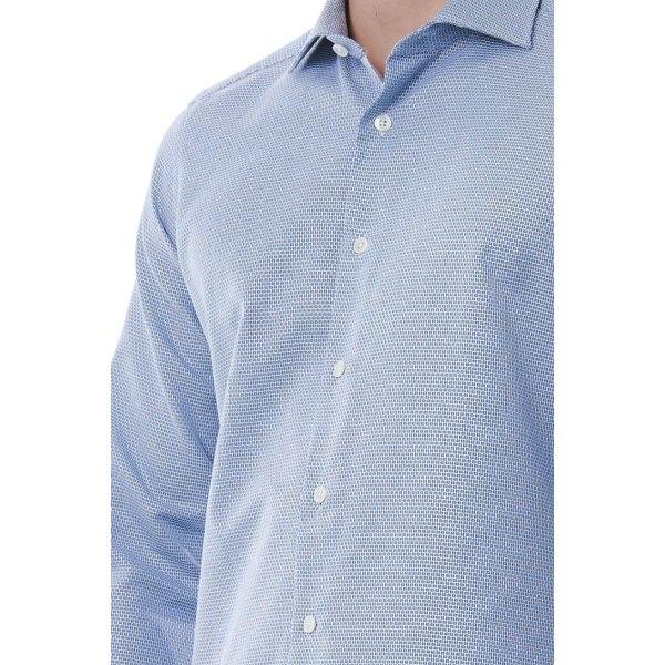 Shirt Blue Bagutta Man 40