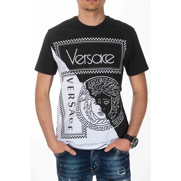 Short sleeve t-shirt Black Versace Man M