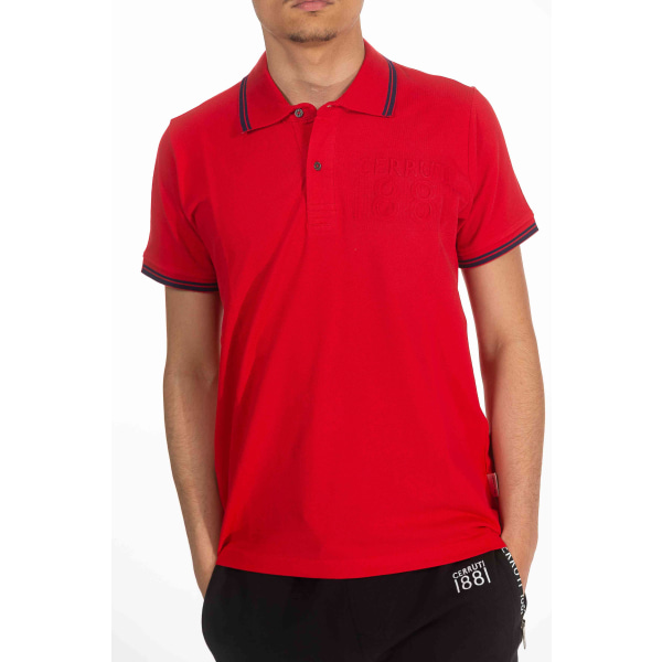 Short sleeves polo Red Cerruti 1881 Man XXL